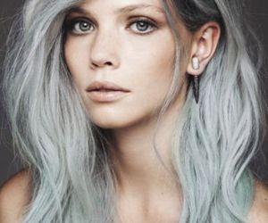 hair, gray, and grey image