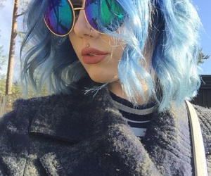 blue and blue hair image