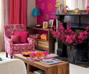 pink and living room image