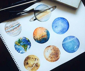 art, home, and planet image