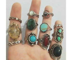 rings, fashion, and hippie image