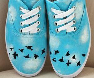 vans, bird, and blue image
