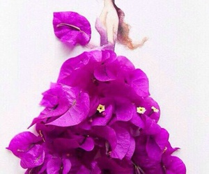 flowers, art, and dress image