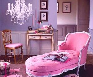 pink, room, and vintage image