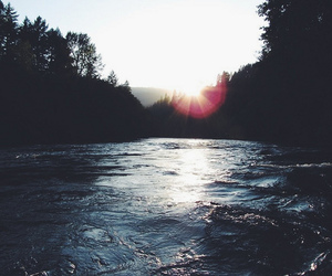 nature, sun, and water image