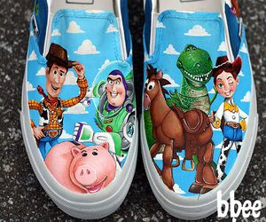 toy story, shoes, and vans image