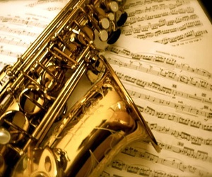 saxophone and music image