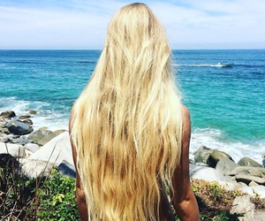 beach, blonde, and fashion image
