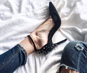 black, fashion, and heels image