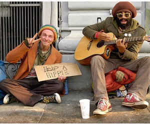 hippie, guitar, and help image