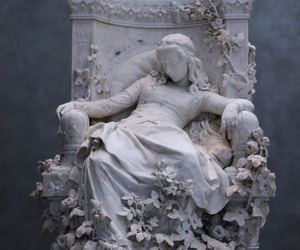 art, sculpture, and sleeping beauty image