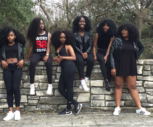 Afro, black women, and fashion image