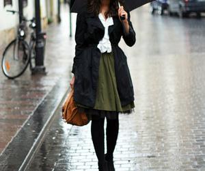 fashion, rain, and umbrella image