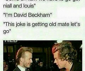 one direction, Harry Styles, and David Beckham image