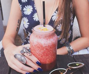 drink, dress, and nails image
