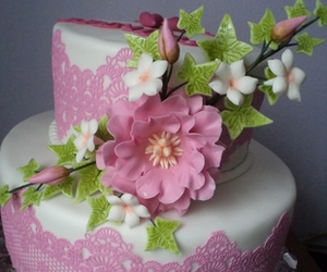cake, cakes, and flowers image