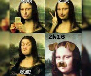 funny, lol, and mona lisa image