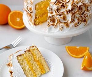 cake, food, and orange image
