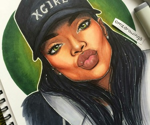 art, rihanna, and draw image