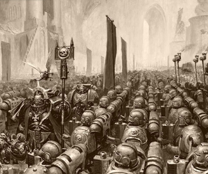 Marines, warhammer, and mobilization image