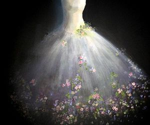 dress, flowers, and ballet image