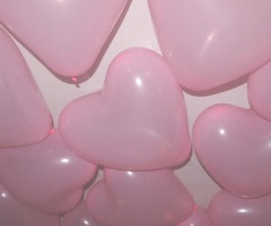 balloons, heart, and pastel image