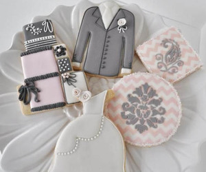 cake, cookie, and wedding image