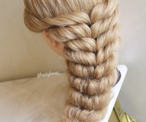 braid, hairstyle, and romantic image