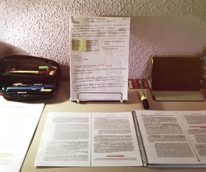 book, colours, and exams image
