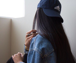 adidas, girl, and hair image