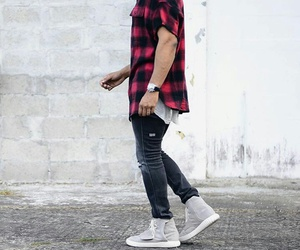 jeans, man, and shirt image