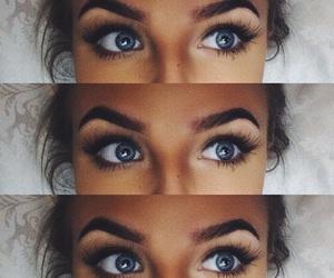 blue, blue eyes, and eye lashes image