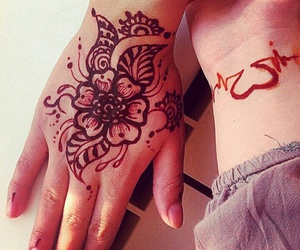 design, henna, and women image