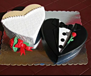 black, cake, and cakes image