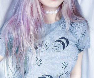 hair, grunge, and pink image