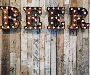 beer, light, and decoration image