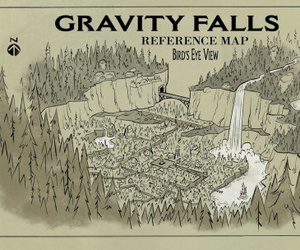 map and gravity falls image