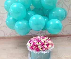 flowers, balloon, and cute image