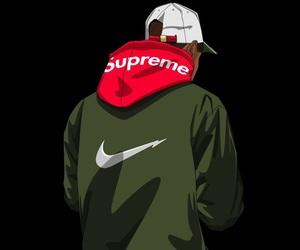 supreme, nike, and art image