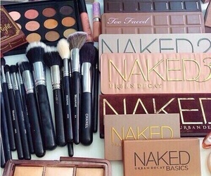 makeup, naked, and Brushes image