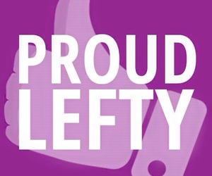 proud, lefty, and lefthanded image