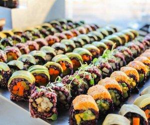 sushi and vegan image