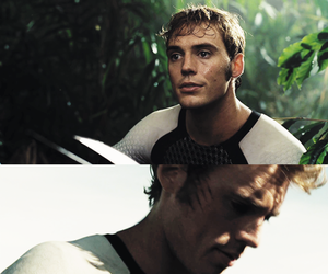 the hunger games, hunger games, and sam claflin image