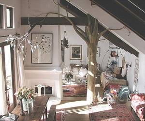 tree, room, and home image