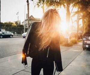 fashion, sunset, and style image