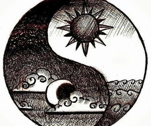 sun, moon, and drawing image