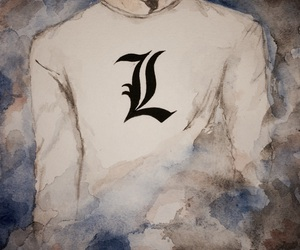 aquarelle, art, and death note image
