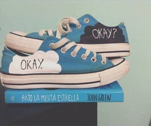 shoes, the fault in our stars, and blue image