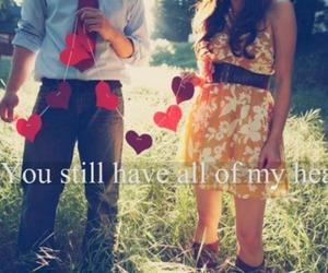couple, Lyrics, and heart image