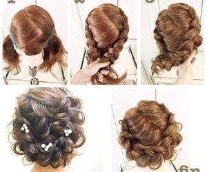 tutorial, hair, and hair style image